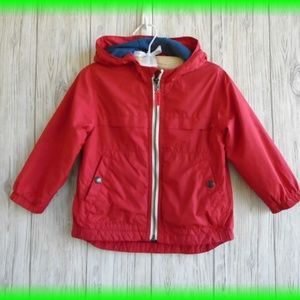 Gap Red Jersey Windbuster Jacket Size 2 Years